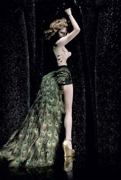 Goldfrapp Peacock Feather Bustle
