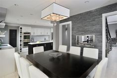 Classic Contemporary Dining Room by Nathalie Tremblay on HomePortfolio
