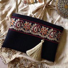 Black Faux Leather Clutch, Ethnic Clutch, Boho Bag, Bohemian clutch, Gift for… Leather Fabric, Leather Clutch, Pochette Diy, Gifts For Women, Gifts For Her, Fabric Bags, Black Faux Leather, Clutch Purse, Boho Clutch