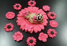 FONDANT EDIBLE BABY LEOPARD CHEETAH CAKE TOPPER FAVOR DECORATION BABY SHOWER 1st