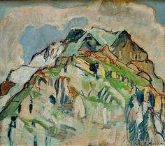 Ferdinand Hodler - Symbolism - Switzerland - Landscape - Felswand der Jungfrau