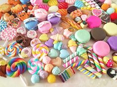 Decoden Sweets Cabochon Mix (10 pcs by RANDOM) Kawaii Cabochons Resin Polymer Clay Cell Phone Deco A0131 by TinyBees on Etsy https://www.etsy.com/listing/224513057/decoden-sweets-cabochon-mix-10-pcs-by