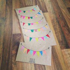 Einladungskarten Kindergeburtstag DIY washitape maskingtape #camesapila