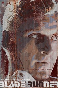 Blade Runner - - Movie Poster - by Duke Dastardly Film Science Fiction, Fiction Movies, Blade Runner Art, Cyberpunk, Roy Batty, Man In Black, Electric Sheep, Foto Poster, Love Film