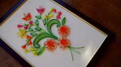 cadouri handmade - quilling art: un tablouas vesel