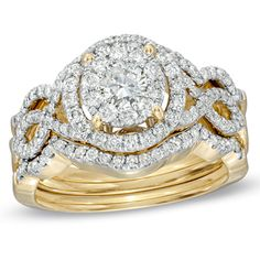 I've tagged a product on Zales: CT. Diamond Vintage-Style Twist Shank Three-Piece Bridal Set in Gold Diamond Promise Rings, Diamond Wedding Rings, Diamond Engagement Rings, Zales Rings, Zales Jewelry, Pear Ring, Diamond Stores, Pretty Rings, Vintage Diamond