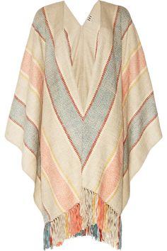 For those cooler mornings, woven cotton poncho. #coachella  Haute Hippie