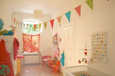 vintage look and bunting :)