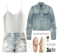 """""""Icarus   SheIn 5"""" by alexandra-provenzano ❤ liked on Polyvore featuring Yves Saint Laurent, American Eagle Outfitters, Evil Twin, Madewell and Nearly Natural"""