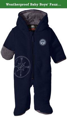 7c83d784b Weatherproof Baby Boys' Faux Fur Shell Polyfilled Pram, Navy, 6/9 Months