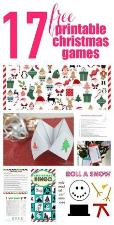 17 Free Printable Christmas Games for the whole family! Don't forget to have fun amid all the hustle and bustle this year.
