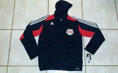 Rare NWT ADIDAS New York Red Bulls MLS Presentation Soccer Jacket Men's Medium  #adidas #NewYorkRedBulls