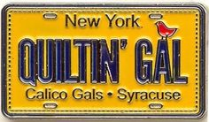Custom license plate pins for Row by Row Experience Shops, Call about creating your own custom piece today, 1.800.841.8691