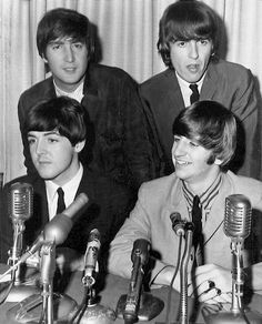 12th September 1964. The Beatles press conference at the Hotel Madison, Boston.