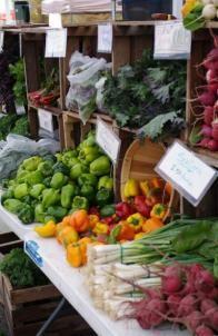 Organic farmers market stand