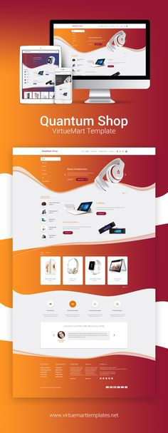 Give your #online #store a fresh, new look in 2017 with the Quantun Shop #Joomla #shopping #cart #template for #VirtueMart