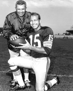 """Green Bay Packers VINCE LOMBARDI & BART STARR.   SPORTS FAN'S, AVAILABLE NOW:  Author Tim Lavin's new book """"Walk-On U""""       more info on: www.walkonu.com"""