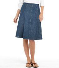 Bean's Gored Skirt.  Colors: classic denim and dark denim.