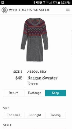 Dear stylist, This is a bit out of my comfort zone, but I keep thinking I would like to try a sweater dress!