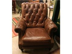 Leather Tufted Club Chair