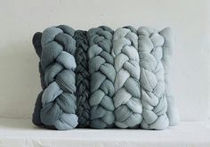Braided Denim Pillow. Love!