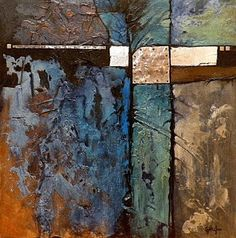 "CAROL NELSON FINE ART BLOG: Mixed Media Abstract Painting, ""Celebration of Blue"" © Carol Nelson Fine Art"