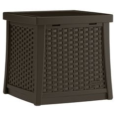 Stow diving rings and snorkels by the pool or lawn games on your porch with this timeless storage bin, showcasing a woven design and hinged lid.  ...