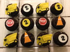 Construction Up Ahead! cupcakes by @Marisa Russo