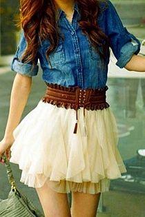 This is sooooooo cute! But a longer skirt!