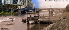 YARRA RIVER - MELBOURNE 1917 / 2015
