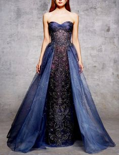 Look 28 by Marchesa Pre-Fall 2018 / Celestial Vestidos Fashion, Fashion Dresses, Beautiful Gowns, Beautiful Outfits, Formal Gowns, Strapless Dress Formal, Evening Dresses, Prom Dresses, Pageant Gowns