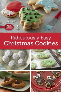 These quick-fix cookies are perfect for potlucks, parties unexpected guest and whatever else the holiday season is throwing at you. Noel Christmas, Christmas Snacks, Christmas Cooking, Christmas Candy, Simple Christmas, Christmas Parties, Candy Cookies, Xmas Cookies, Brownie Cookies