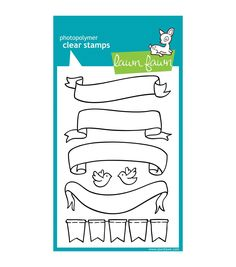 """Lawn Fawn Clear Stamps 4""""X6""""-Bannerific"""