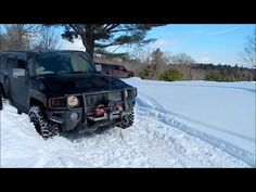 Hummer Stuck in Snow in Muskoka - MICKEY THOMPSON MTZ in Snow SUCK