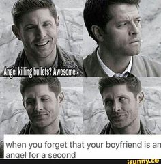 Supernatural destiel You are in the right place about computer Nerd Humor Here we offer you the most beautiful pictures about the Nerd Humor portugues you are looking for. Misha Collins, Jensen Ackles, Supernatural Destiel, Supernatural Funny Quotes, Supernatural Interview, Supernatural Cartoon, Dean And Castiel, Sam Dean, Funny Memes
