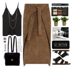 """Untitled #1796"" by tacoxcat ❤ liked on Polyvore featuring Christopher Esber, Joseph, Club Manhattan, Chanel, MM6 Maison Margiela, NARS Cosmetics and LG"