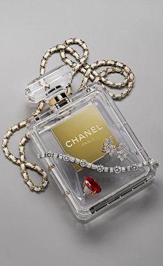 The Millionairess of Pennsylvania:  Chanel Perfumr Bottle Clear Handbag at chanel.com