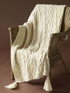 Making this for Cailtin's wedding present...Lover's Knot Afghan by Lion Brand Yarn