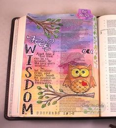 Hello Bible journaling friends! Did you know that Sweet 'n Sassy Stamps has a Creative Worship Bible Journaling Group on Facebook for those interested in learning more about Bible Journaling and sharing their pages tips and techniques? Each Friday Rebecca Rios will be posting a Bible Journaling Challenge for for anyone who wishes to participate. The challenge this past week was to complete a page in Proverbs. This is mine (Cathy's). Come join in the fun! http://ift.tt/1O6AAgp #snsscreativ...