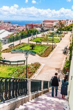 Jardim de São Pedro de Alcântara, Rua de São Pedro de Alcântara, Bairro Alto, Lisboa, Portugal #Portugal