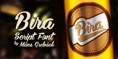 Bira PERSONAL USE ONLY font by Måns Grebäck - FontSpace