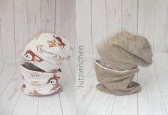 NEU süße Designer Winter Ohrenmütze Loop Schal 48 50 Blümchen Teddyplüsch