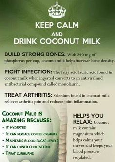 Coconut milk benefits -