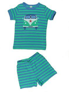 Kurzer luftiger Schlafanzug für die Jungs, ökologisch aus Bio Baumwolle