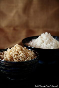 How To Make Perfect Rice Without a Rice Cooker (white and brown) ~ a simple trick for perfect rice every time, with photos