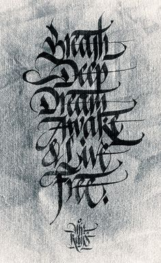 would make a nice tat. except I would spell breathe correctly on my skin.