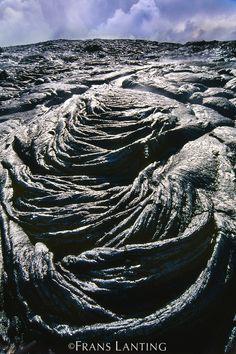 Fresh lava flow (aerial), Hawaii Volcanoes National Park, Hawaii by Frans Lanting