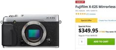 Mega Deal on Fujifilm X-E2S: Get it Now for $349 Only (Limited Stock)  Very Last Fuji Deals  Just as any other Fujifilm 16 megapixel camera also the Fujifilm X-E2S is officially discontinued. In fact BHphoto and Co dont sell it anymore.  However it seems that Adorama has still a few in stock and they are now selling the silver X-E2S body for a ridiculous price of $349 (50% discount).  The black X-E2S body instead comes for $419 (40% discount).  ITS (ALMOST) OVER  This are the very last days…