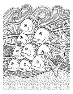 107 Best Marine Life Coloring Pages Images On Pinterest In 2018