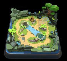 ArtStation - level icon for mobile legends, Dawnpu at Art vision studio Game Design, Bg Design, Clash Royale, Sprites, Game Background Art, Isometric Drawing, Low Poly Games, Pix Art, Arte Dc Comics